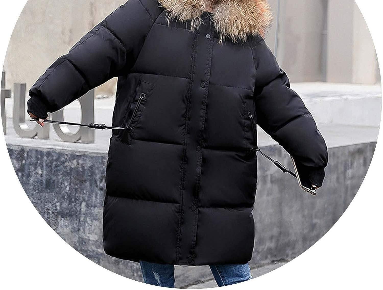 2018 Autumn Winter Women Fashion Fur Hoodie Long Down Jacket Cotton Thick Parkas Long Warm Coat