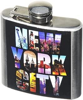 NY NYC New York City Photo Color Hip Flask