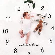 27.56* 40.16 102 cm Angmile beb/é Manta mensual Registro Crecimiento del beb/é Millas Manta Material de Franela de Piedra Suave Manta de la fotograf/ía de Manta 70 Gran Regalo de Ducha