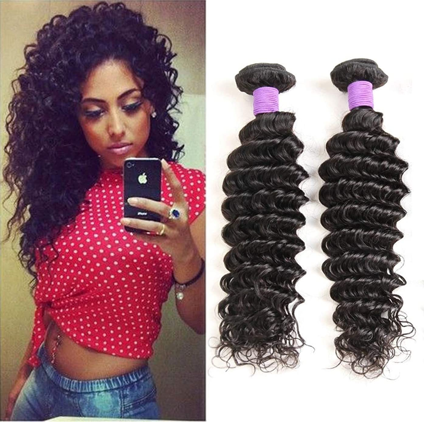 インタラクション豪華なスキニー髪の毛を編む9Aブラジルの水の波1閉鎖と未処理のバージンの人間の髪の毛の束閉鎖部分と染めて漂白することができます