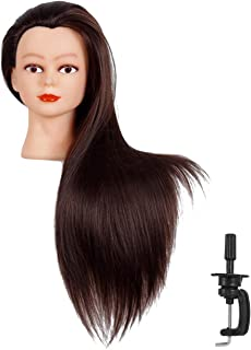 """Cosmetology Mannequin Head with Synthetic Hair and Adjustable Stand 26-28"""" Blonde for.."""