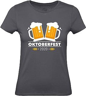 Shirt-Panda Oktoberfest T-Shirt Damen  Maßkrug 2020  Tracht für Frauen Wiesen Dirndl  München Stuttgart Wasen Outfit  Bier Krüge