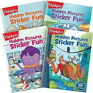 Highlights Hidden Pictures Sticker Fun 4-Book Set by Highlights For Children