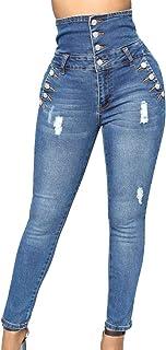 EVEDESIGN Women's Butt Lifting High Waist Jeans Skinny Slim Stretch Comfy Jeggings Denim