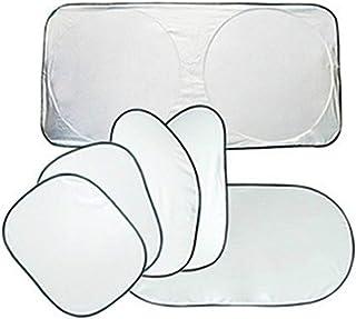 NEXGADGET 6 Parasoles de Coche para Ventanas Frontale, Laterales y Trasera, Static Cling Sombrilla Plegable de Protector para Bebés (Parasoles)