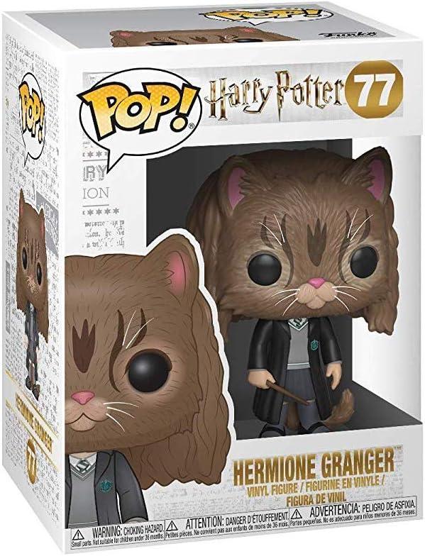 Funko 35509 POP Vinyl Harry Potter S5 Hermione Gato, Negro/Marrón, Talla única (35509)