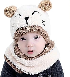 d840dca5c5e bebé Sombrero y Bufandas, Tukistore Otoño Invierno Punto Gorras y Bufanda  Conjunto para Bebé Niñas