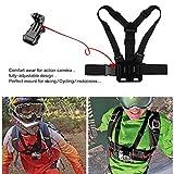 SHOOT 3in1 Zubehör Set Kit für GoPro Hero 6 5 4 3 + 3 SJ4000 SJ5000 SJ6000 Sportarten Kamera Brustgurt + Head Gürtel Strap Mount + Einbeinstativ
