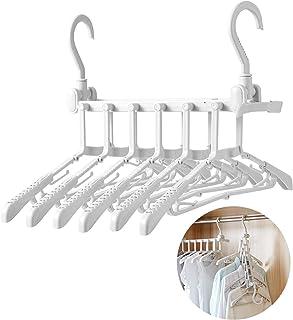 ハンガー 洗濯ハンガー 物干しハンガー 6連ハンガー コンパクト収納 すべらない 旅行携帯 大人 こども用 室内物干し ホワイト