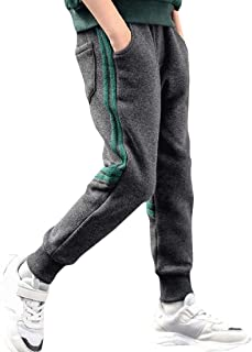Pandapang Big Boys All-Match Solid Color Zip Casual High Rise Pants