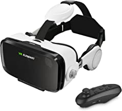 VR Headset, ELEGIANT 3D VR Glasses, Virtual Reality Headset Built-in Headphone with Remote Control, Compatible with iPhone 6 / 6s /6 Plus/5s/5 Samsung S7/S6 and Other 4.0