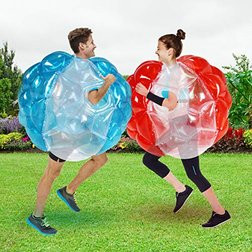 Shangle-sunshine 2 PC Bumper Balls, Inflatable Body Bubble Ball Sumo Bumper Bopper Toys, Heavy Duty Durable PVC Vinyl Kids Adults Physical Outdoor Active Play (2pcs 36inch)