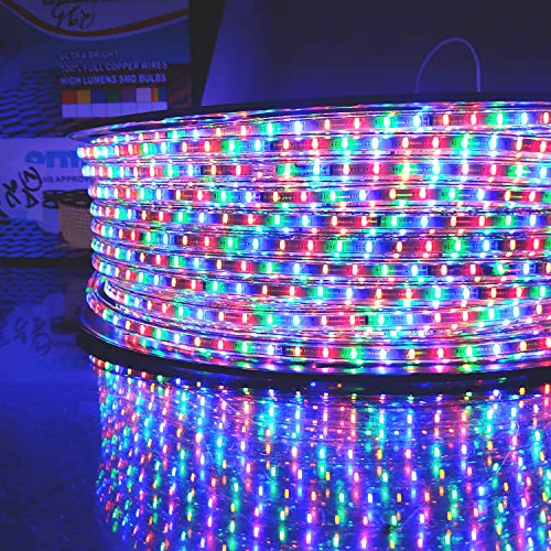 Wisent LED Strip Rope Light,Water Proof,Ceiling Light,Decorative led Light with Adapter(Multi, 5 Meter)