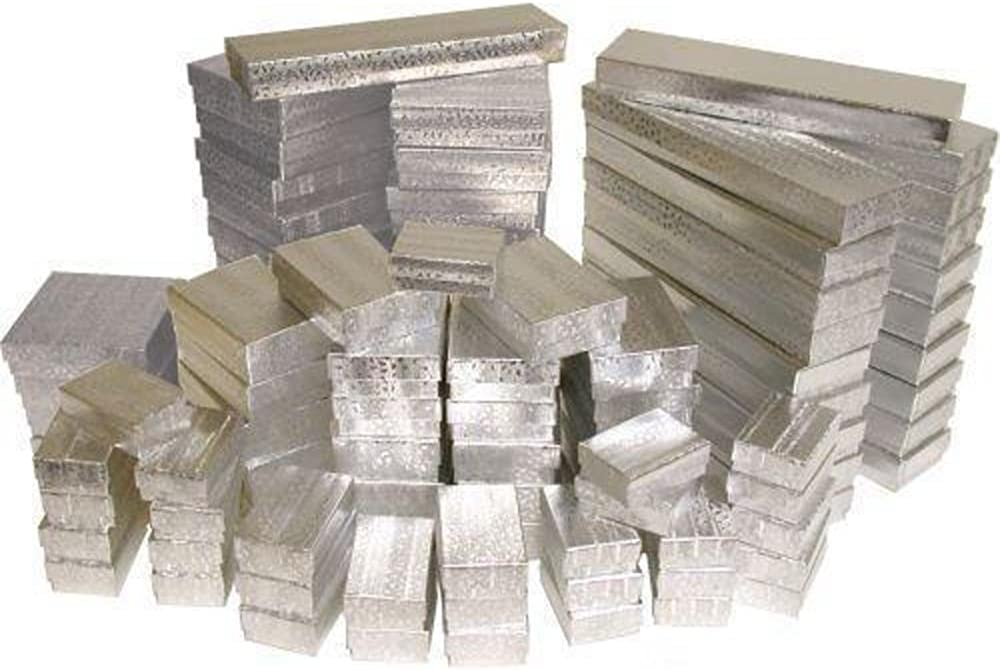 100 Max 46% OFF Silver Max 73% OFF Jewelry Display Gift Cotton Storage Boxes