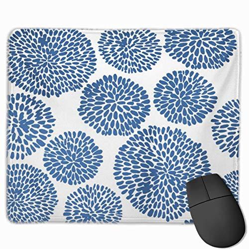 Nettes Gaming-Mauspad, Schreibtisch-Mauspad, kleines Mauspad für Laptop-Computer, Maus-Matten-Farbstoff Japanische Blume Shibori Indigo Design Minimalismus Baumwoll-Krawatte Aquarell-Zusammenfassung