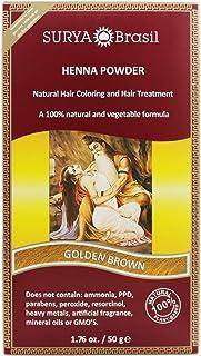 Surya Brasil - Henna Powder Natural Hair Coloring Golden Brown - 1.76 fl. oz.