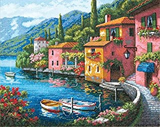 Dimensions Gold Collection Lakeside Village Counted Cross Stitch Kit-15