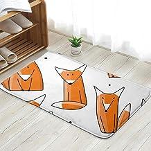 Funny Foxes Your Design Animals Wildlife Fox Doormat Entrance Mat Floor Mat Rug Indoor/Front Door/Bathroom/Kitchen and Liv...