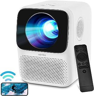 WANBO T2 MAX Mini-beamer, Full HD WLAN Bluetooth, 720P Full HD home cinema beamer, lektronische correctie, dubbele luidspr...