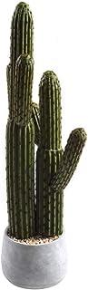 SUWIN Planta en Maceta Artificial de Cactus Grande, Planta Verde de simulación casera nórdica, Adorno Grande para Piso, 23X65 cm