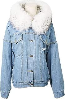 SERAPHY Unisex StrayKids Denim Fur Jacket Coats Women Streetwear Warm Fleece Thick Parkas Hooded Jean Outwear Winter Coat