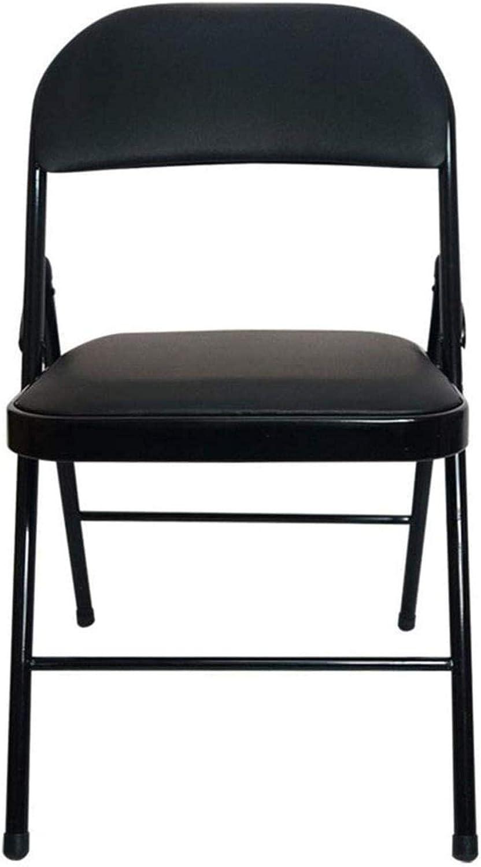 Hamaca Silla de Oficina Silla de Tijera Simple Plegable de Acero Personal Reunión Respaldo Plegable reclinable Jardín Sillón