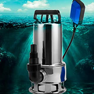 Submersible Water Pump Sump with Float Switch Portable Clean/Dirty (1.5HP, blue)
