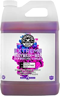 Chemical Guys CWS207 Extreme Bodywash & Wax Foaming Car Wash Soap (Works with Foam Cannons, Foam Guns or Bucket Washes), 1 Gallon, Grape Scent