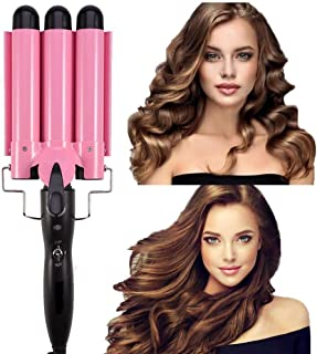 Curling Iron 3 Barrel Hair Waver Stylish Fast Heating Hair Curlers Temperature Adjustable Ceramic Beach Waver Hair Curlers...