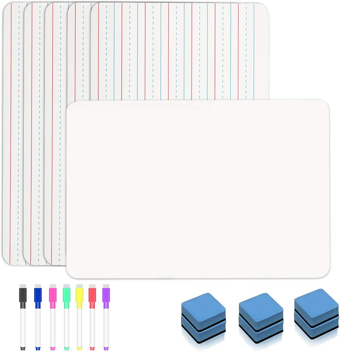 6 Pieces Ruled Fees free!! Lap National uniform free shipping Boards Erase Double Dry Eras Sided