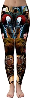 Top Horror Movie Characters 3D Sublimation All Over Printing Women High Waisted Leggings Gift