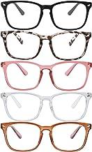 Clear Ant Blue Light Blocking Glasses,Square Nerd Eyeglasses Frame Anti Blue Ray Computer Game Glasses Anti Eyestrain & U...