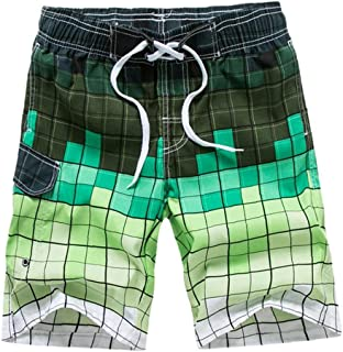 Yililay Men Beach Shorts Swimming Trunks Quick Dry Swim Suits for Board Bathing Casual Surfing Pants with Pocket XXL