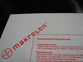 Placas de policarbonato Makrolon®, transparente, diferentes cortes (1 mm, 1250 x 500 mm)