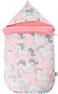 GoolRC Baby Wrap Swaddle Blanket Cotton Hooded Sleeping Bag Sleep Sack Stroller Blanket For Newborn Infant Toddler Pink