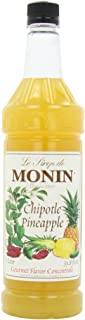 Monin Flavored Syrup, Chiptole Pineapple, 33.8-Ounce Plastic Bottles (Pack of 4)