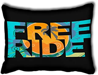 YILINGER Throw Pillow Covers Cushion Covers Surfer Free Ride Kite Surf Outdoor Pillowcase 16