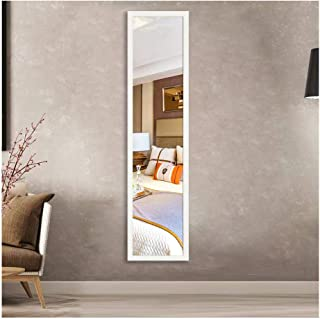 Beauty4U Full Length Wall Mirror Float Tile White Dressing Mirror for Wall Decor