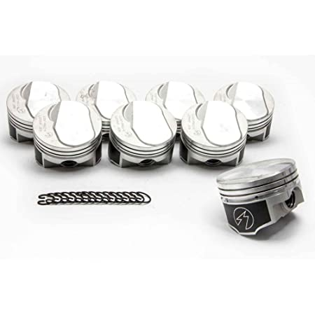 """SPEED PRO Ford 289 302 Flat Top Hypereutectic Coated Pistons Set//8 9.0:1 .060/"""""""