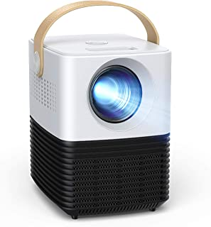 Mini proyector, APEMAN Pantalla Grande Soporte 1080P, ± 30° Corrección Electrónica Remota, Altavoces Duales, 50,000 Horas,...