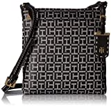 Tommy Hilfiger Crossbody Bag for Women Julia, Black/White