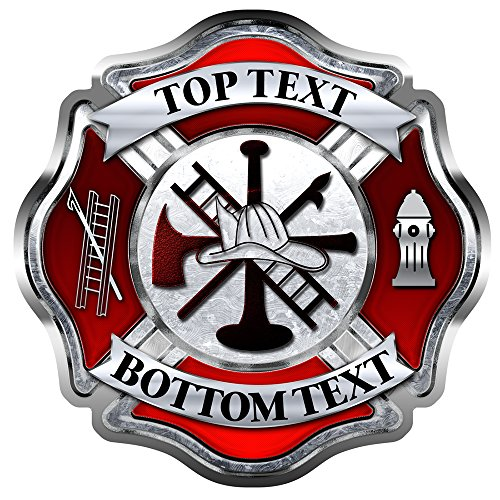 AZ House of Graphics Custom Firefighter Maltese Cross Sticker