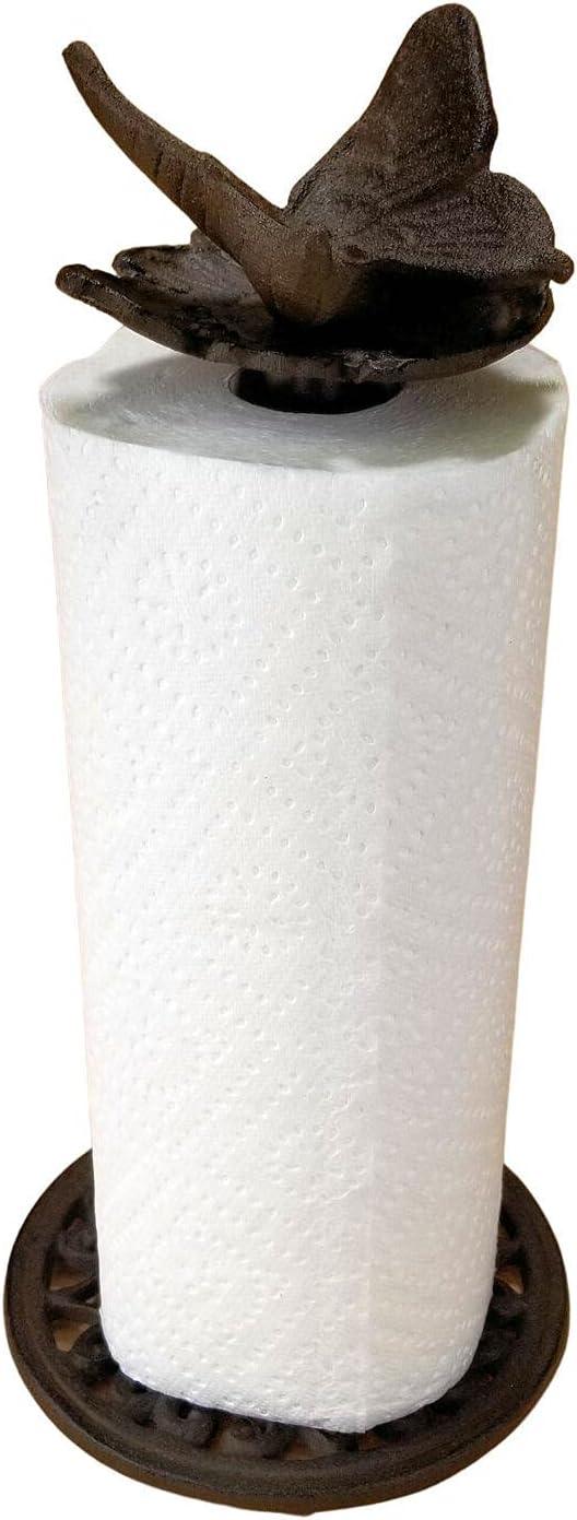 Cast Albuquerque Mall Aluminum Paper Max 90% OFF Towel Holder Pa Brown Kitchen Organization