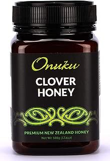 Onuku Pure Clover Honey - Unfiltered Honey from New Zealand - Natural Pure Honey - Non-GMO - 500 gram