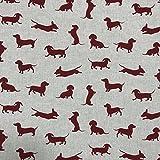 Discover Direct Wurst Hund rot Design Baumwolle Rich Leinen