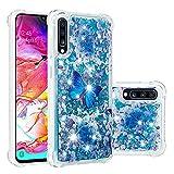 COTDINFOR Samsung Galaxy A70 Funda Líquido Cute 3D Glitter Sparkle Bling Quicksand Caso Silicona...