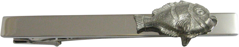 Gray Toned Tropical Fish Pendant Square Tie Clip
