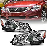 ACANII - For [HID-Xenon w/AFS Model] 2006-2011 Lexus GS300 GS350 GS450h GS460 Projector Headlights Headlamps Left+Right
