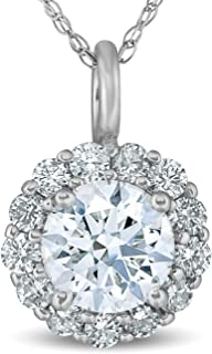 Best diamond pendant necklace with halo Reviews