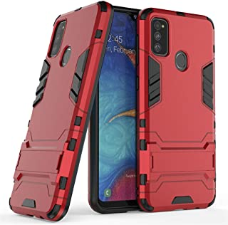 Case for Samsung Galaxy M30S / Galaxy M21 (6.4 inch) 2 in 1 Shockproof with Kickstand Feature Hybrid Dual Layer Armor Defe...